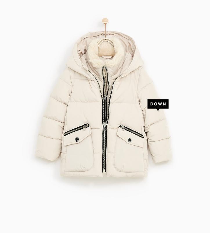 Зимняя куртка для девочки zara пуховик