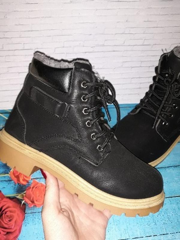 Зимние ботинки нубук - Фото 3