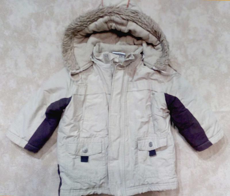 Теплая куртка topolino рост 86