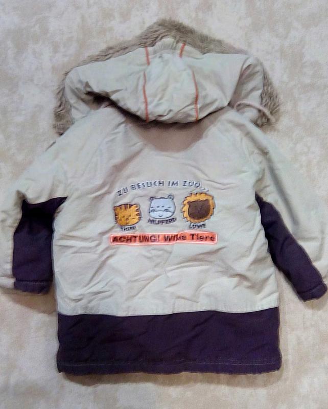 Теплая куртка topolino рост 86 - Фото 2