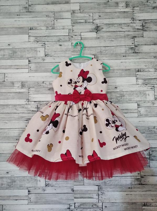 Платье минни маус нарядное, праздничное для девочки