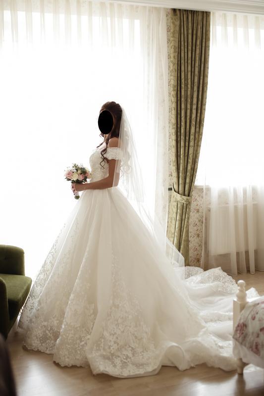 Пышное свадебное платье от Alberta Ferretti в отличном состоянии - Фото 4