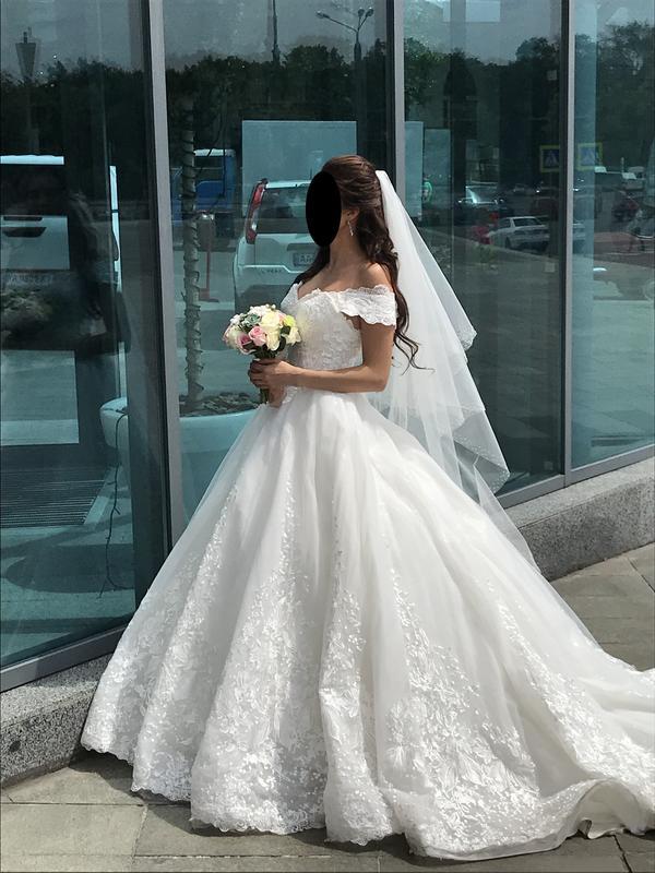 Пышное свадебное платье от Alberta Ferretti в отличном состоянии - Фото 5