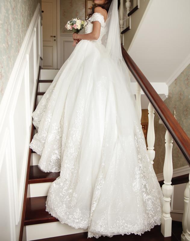 Пышное свадебное платье от Alberta Ferretti в отличном состоянии - Фото 7