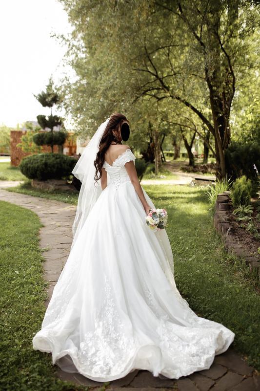 Пышное свадебное платье от Alberta Ferretti в отличном состоянии - Фото 8