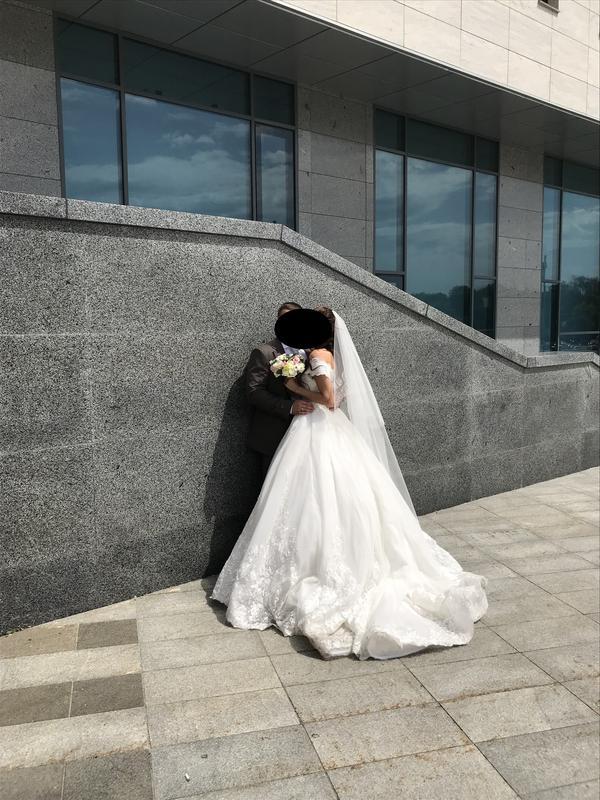 Пышное свадебное платье от Alberta Ferretti в отличном состоянии - Фото 9