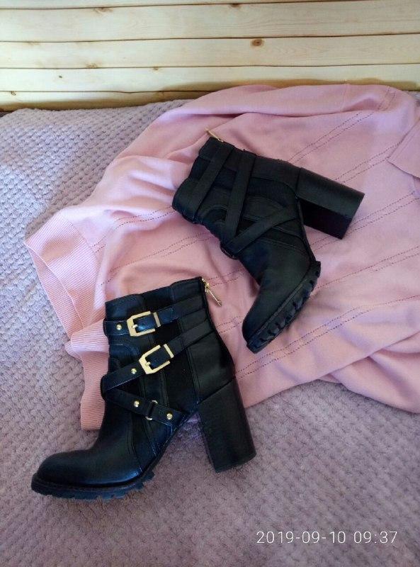 Steve madden/черные/замочки/ботинки/ботиночки/сапожки/каблук/у...