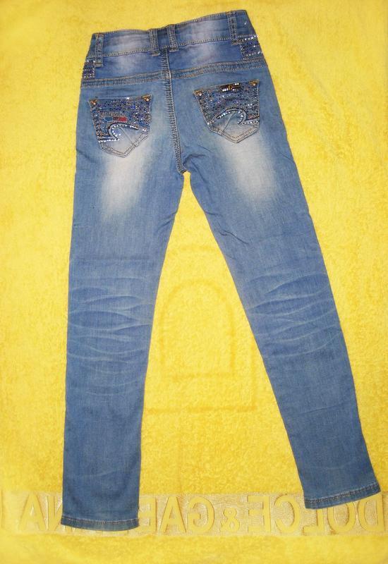 Джинсы со стразами для девочки tp jeans на 6-8 лет - Фото 5