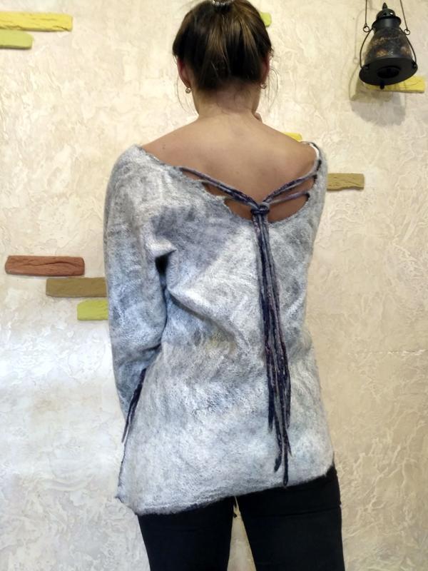 Свитшот свитер ручной работы - Фото 5