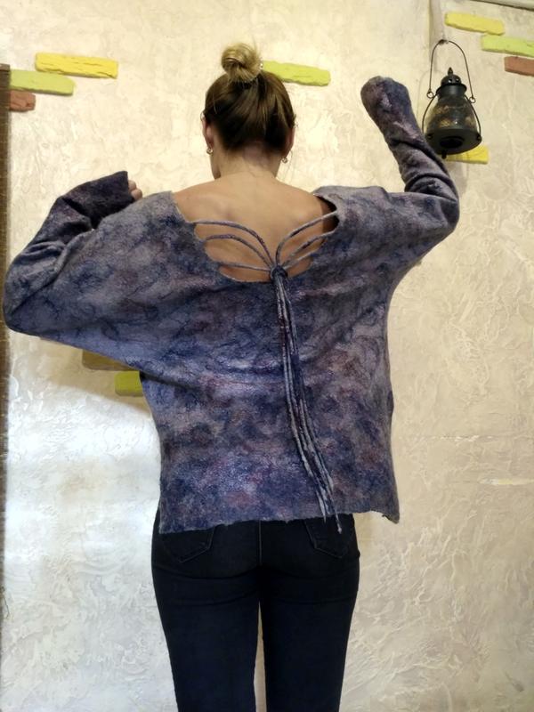 Свитшот свитер ручной работы - Фото 6