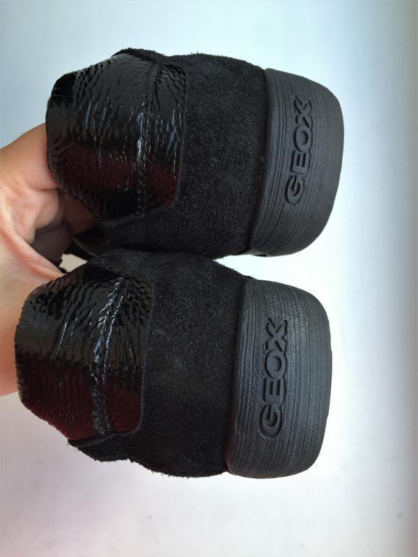 Кожаные кеды geox 39 р. замшевые лакированные туфли кроссовки - Фото 7