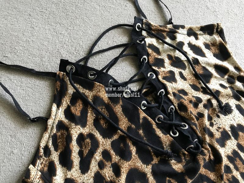 Боди на шнуровке 🔥 леопардовый принт монокини топ майка комбид... - Фото 4