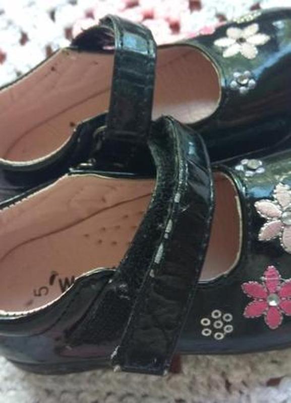 Красивые туфли на девочку 14 см по стельке warlkright - Фото 2