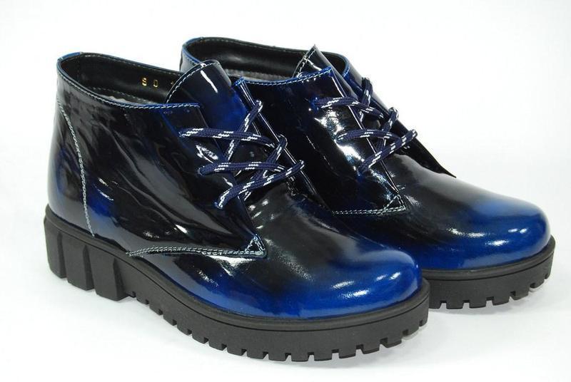 Женские зимние кожаные ботинки viva 37-38