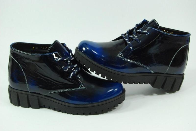 Женские зимние кожаные ботинки viva 37-38 - Фото 2