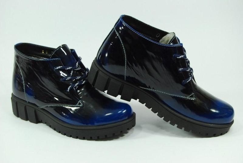 Женские зимние кожаные ботинки viva 37-38 - Фото 3