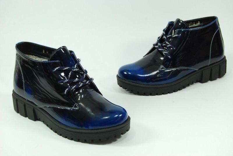 Женские зимние кожаные ботинки viva 37-38 - Фото 4