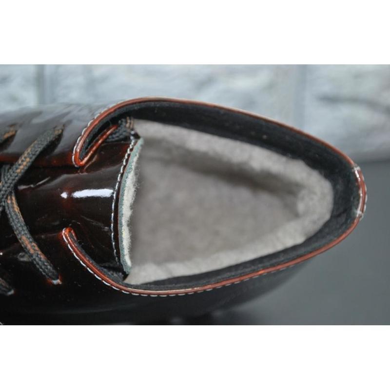 Женские зимние кожаные ботинки viva 37-38 - Фото 6