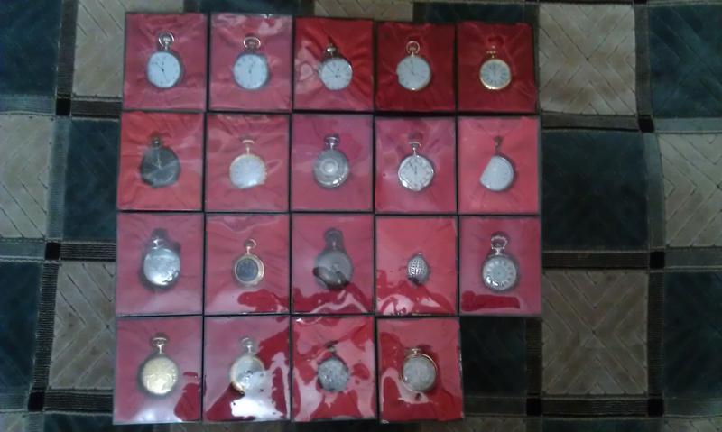 Коллекционные карманные часы копии из металла на батарейке (24 шт