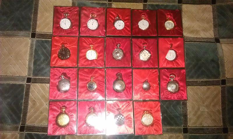 Коллекционные карманные часы копии из металла на батарейке (24 шт - Фото 2