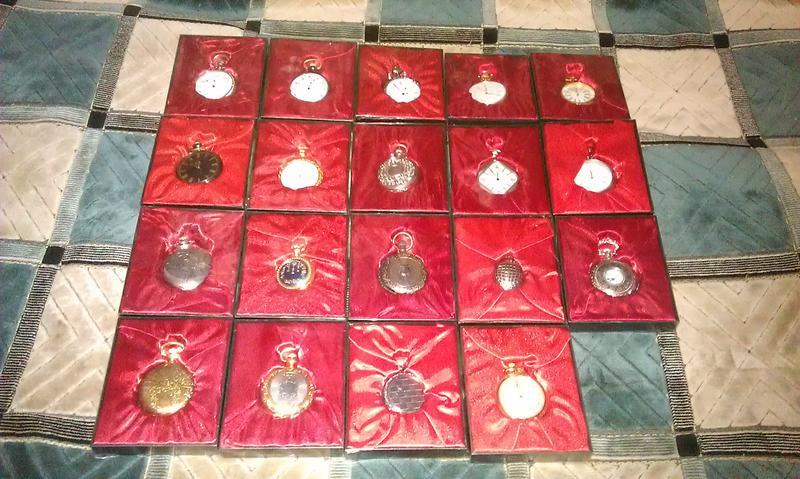 Коллекционные карманные часы копии из металла на батарейке (24 шт - Фото 3