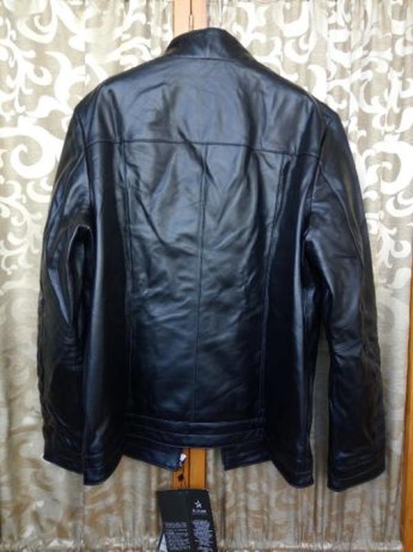 Кожаная мужская куртка - Фото 3