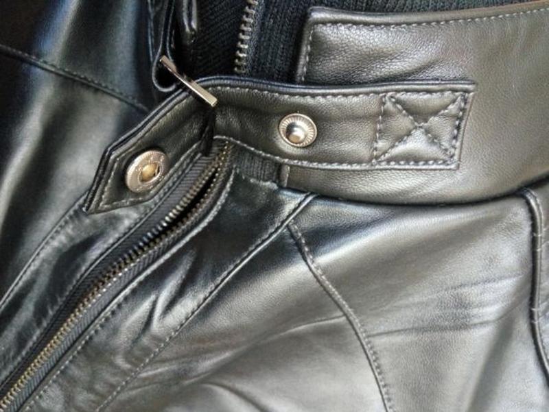 Кожаная мужская куртка - Фото 6