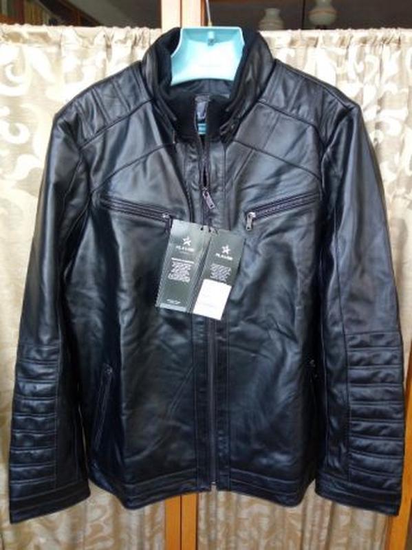 Кожаная мужская куртка - Фото 2