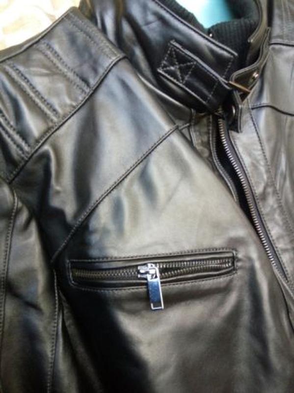 Кожаная мужская куртка - Фото 5