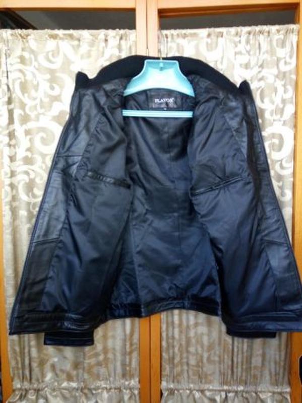 Кожаная мужская куртка - Фото 4