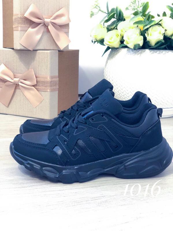 Черные женские кроссовки - Фото 3