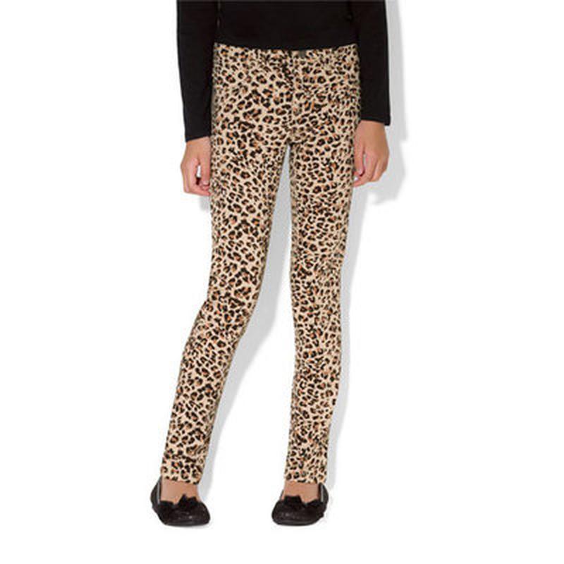 Леопардовые джинсы  скинни,на 8\9 лет) denim co