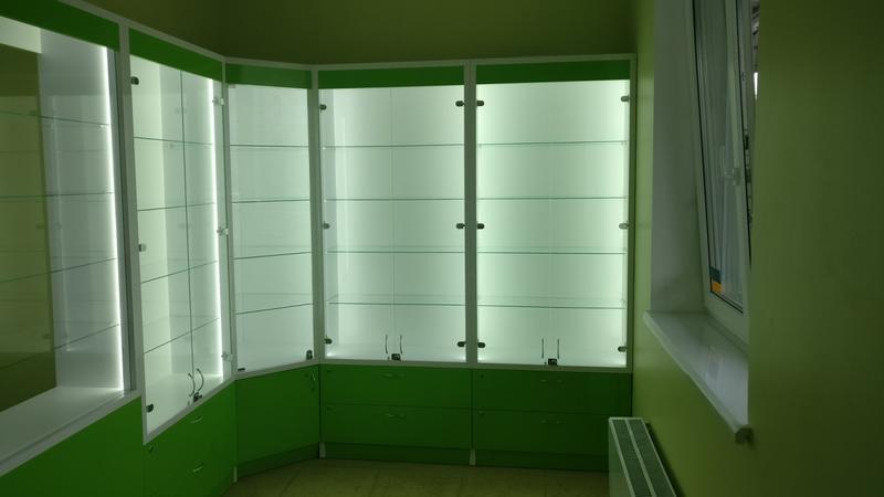 Мебель для аптеки оптики магазина