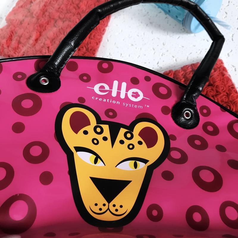 Лаковая косметичка сумка большая ello