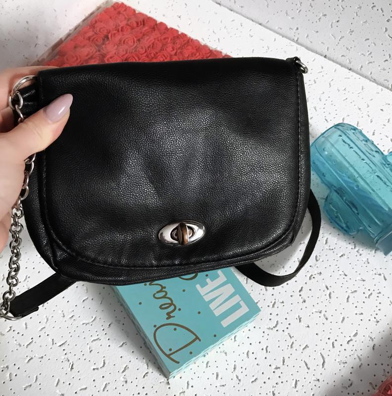 Маленькая сумочка клатч черная  terranova