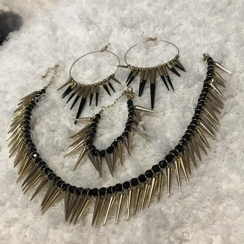 Набор комплект украшений манго серьги браслет ожерелье