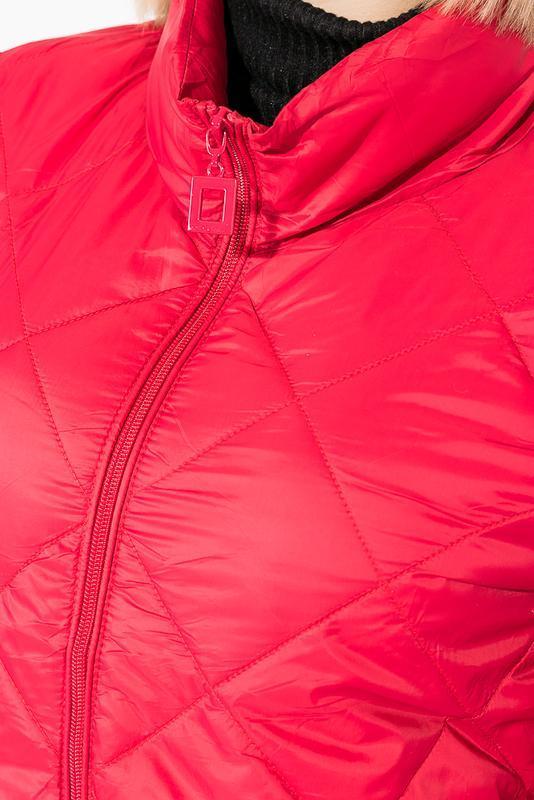 Куртка женская демисезонка 0008511 красный - Фото 4