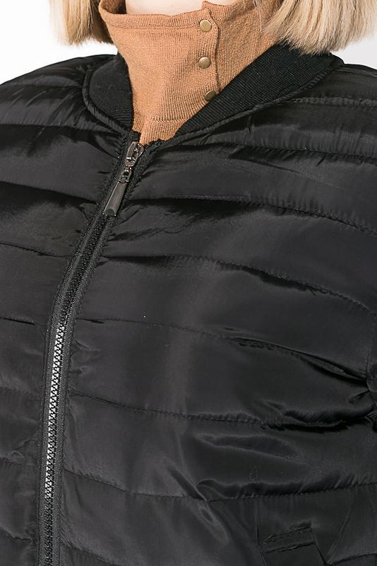 Бомбер женский 0008500 черный - Фото 3