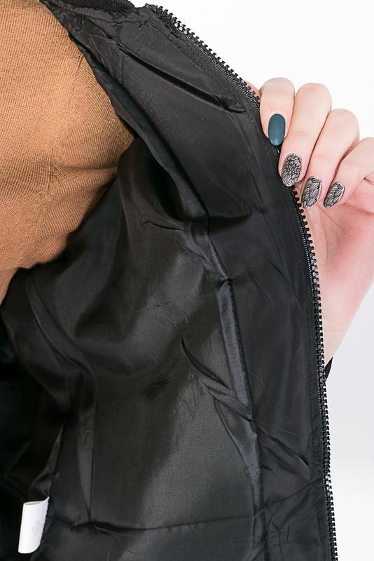 Бомбер женский 0008500 черный - Фото 5