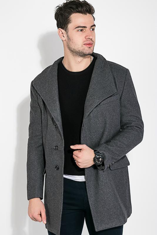 Пальто мужское классическое 0008494 серый