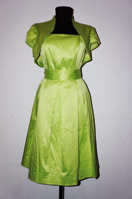 Платье с болеро и поясом balunova
