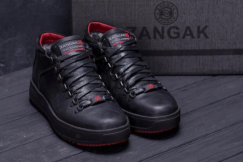 Мужские Зимние Кожаные Ботинки Zangak - Фото 2