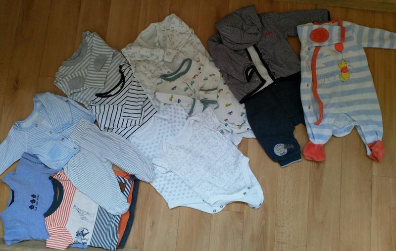 Пакет фирменных вещей для мальчика до 3 месяцев