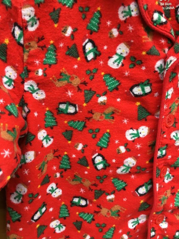 Новогодняя пижама на новый год,баевая пижама на байке,мягенька... - Фото 2