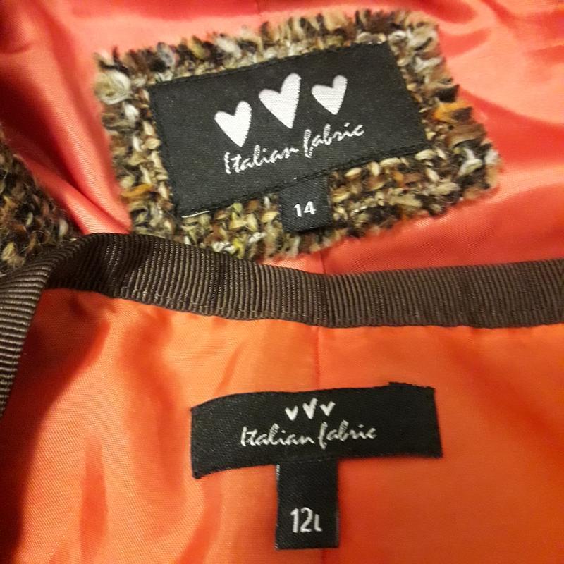 Шерстяной костюм юбка жакет пиджак - Фото 6