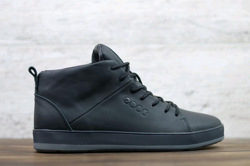 Мужские зимние кожаные ботинки - Фото 5