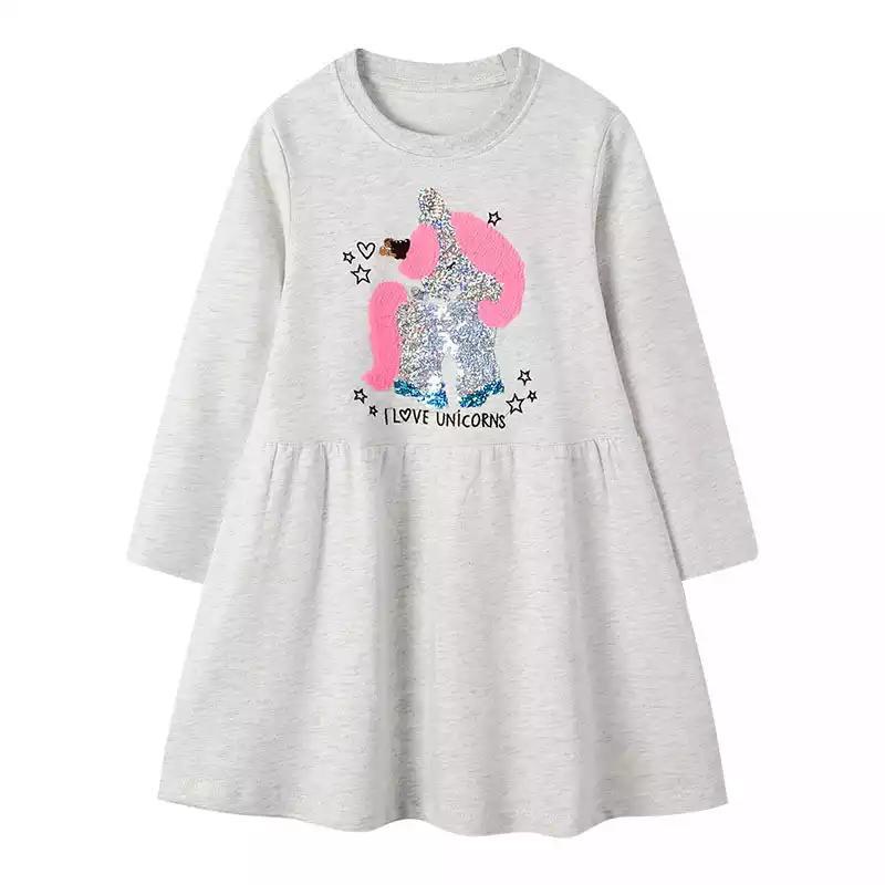 Милое  детское платье с единорогом, на 1-5 лет, новое