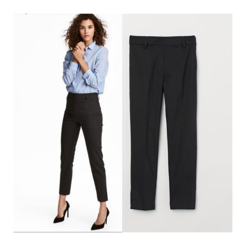 Черные брюки слаксы