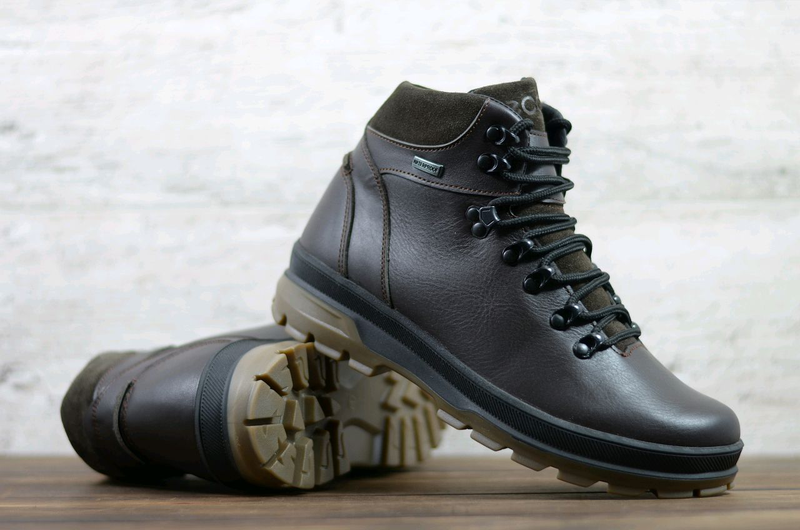 Мужские зимние кожаные ботинки - Фото 3