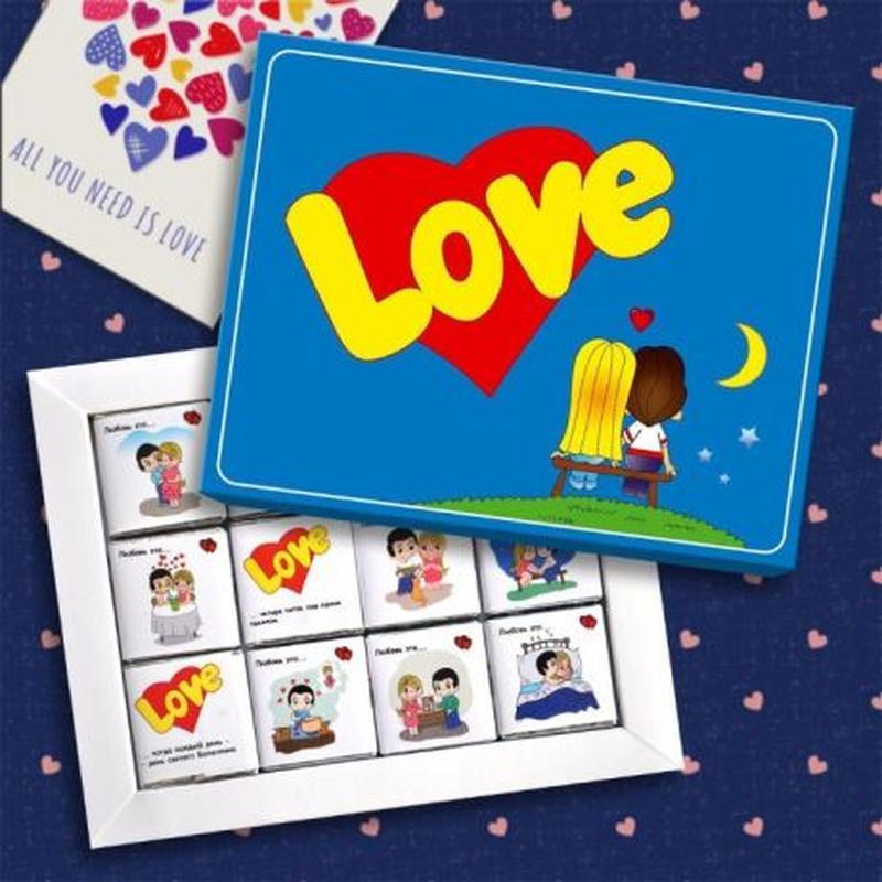 Шоколадні набори, Шоколадные наборы, лов из, love is, любимым,... - Фото 3
